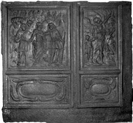 ID 128 - Doppelplatte Loth's Flucht / Erzengel Raphael führt Tobias an der Hand - Double plate: Loth's escape / archangel Raphael takes Tobias by the Hand