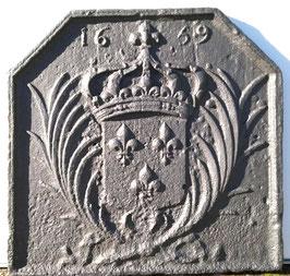 "ID 207:  Bourbonenwappen Fleurs de Lys ""1639""  -  Coat of Arms LOIS XIII ( 1601 - 1643 )"