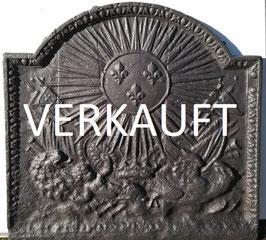 ID 206:  Wappen LOUIS XIV Sonnenkönig Bourbonenwappen Fleurs de Lys  -  Coat of arms of LOUIS XIV, the Sun King