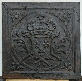 ID 234  Bourbonenwappen Louis XIV mit zwei Zeptern  -  Coat of arms of LouisXIV, the Sun King