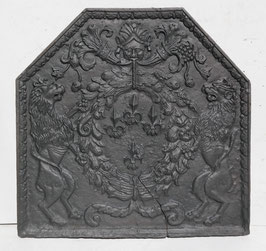 ID 170 - Bourbonenwappen hexagonal Renaissance ( vier Lilien)  -  Coat of Arms of Bourbons