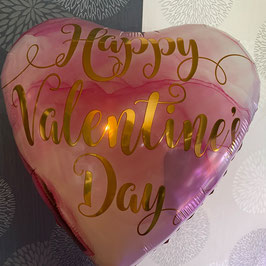 Valentins Luftballon rosa