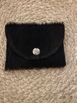 Zwart koeienhuid portemonnee merk Van Buren