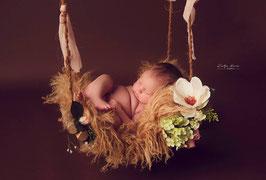 Blumen Schaukel für die Babyfotografie Newborn