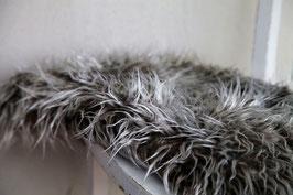 Kuschel Fell Babyfotografie grau/weiß