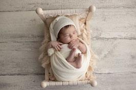 Basic Wrap Set Mütze & Wrap Baby Fotografie babyshooting