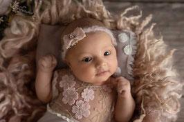 Newborn Haarband Babyfotografie shooting Taufe