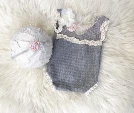 Fotoaccessoire Baby Fotografie PROP Hängerchen, Haarband & Höschen