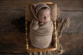 Basic Wrap Set Mütze & Tuch Baby Fotografie babyshooting