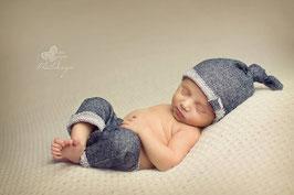 Jungen Newborn Set mit Zipfelmütze