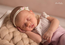 Babyfotografie Overall Babyshooting Outfit Props Haarband