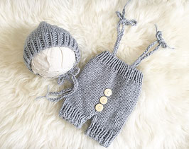 Babyshooting Baby Fotografie Baby Mütze grau Neugeborenenfotografie Requisiten Baby Jungen Set Baby Jungen Set Neugborenen Foto Set Geburt