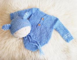 Jungen Set Newborn Neugeborenen Set Neugeborenen Requisiten Foto Outfit Baby Body Baby Fotografie Prop Baby Haube mit Ohren