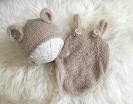 Fotoaccessoire Baby Fotografie Baby Teddy Mütze Neugeborenenfotografie Requisiten Baby Jungen Set Baby Jungen Set Neugborenen Foto Set