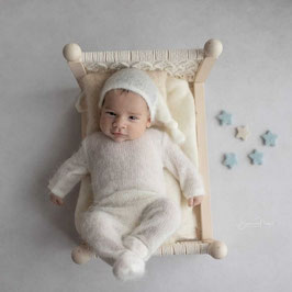 Babyfotografie Set Babyshooting Overall & Mütze