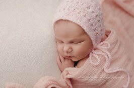 Fotoaccessoire Baby Fotografie Lila Rosa Baby Mütze Neugeborenenfotografie Requisiten Baby Häkelmütze Neugeborenen Mütze