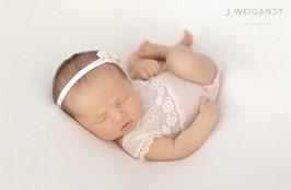 Body & Haarband Newborn Baby Fotografie Babyshooting
