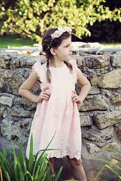 Kleid 4 - 7 Jahre mit passendem Blumenkranz