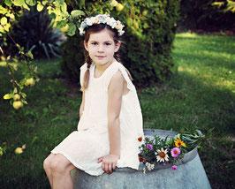 Kleid 3 - 6 Jahre mit passendem Blumenkranz