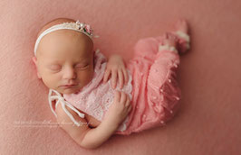 Wundervolles Set Haarband & Overall Baby Fotografie