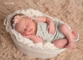 Set Haarband & Overall Baby Fotografie Newborn