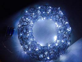 Türkranz mit 100 LED Lichterkette