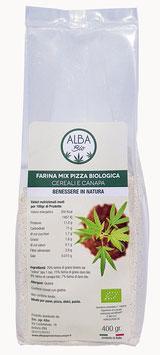 Farina mix pizza biologica cereali e canapa
