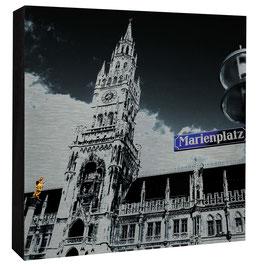 München - Marienplatzschild