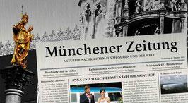 München - Mariensäule mit Zeitungsartikel (individualisierbar)