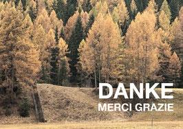 Postkarte Danke Herbst