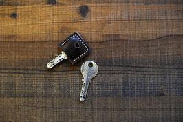 eckige Schlüsselkappe aus echtem Rindsleder