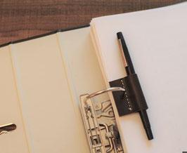 Schreibhalter aus echtem Rindsleder