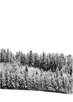 Postkarte Schnee hoch weiss