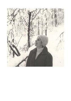Postkarte Alt Winter Frau