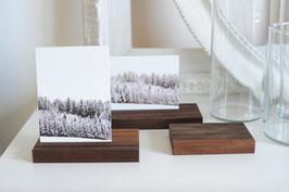Postkartenhalterung aus Nussbaumholz