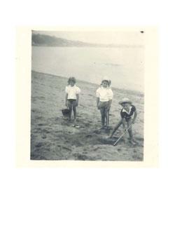 Postkarte Alt Sommer Strand