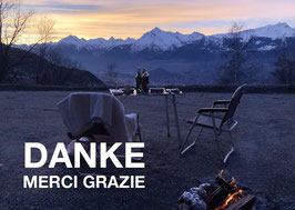 Postkarte Danke Camping