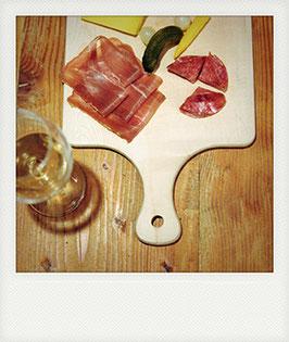 Polaroid-Postkarte Kalte Platte 122