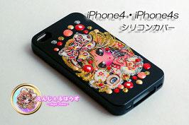 iPhone4/4S シリコンカバー/ケースBlack2803
