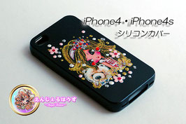 iPhone4/4S シリコンカバー/ケースBlack2430