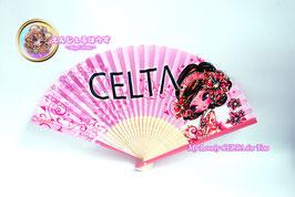 CELTA夏アイテム☆扇子ピンク2428