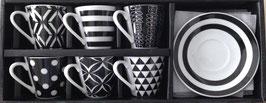 12tlg. Espressoset black&white