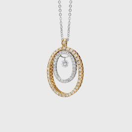 PVG Anhänger Vega Weiss- und Gelbgold mit Diamanten