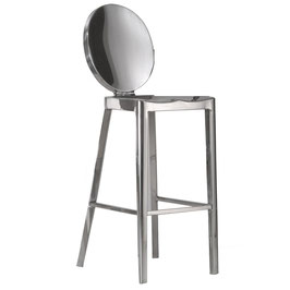 Kong Counter Stool, polished, Design Philippe Starck für Emeco