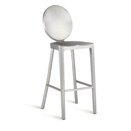 Kong Bar Stool 30, brushed Design Philippe Starck für Emeco