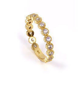 Luca Lorenzini Ring Scintille Basics Collection gelbgold-vergoldet mit Zirkonia