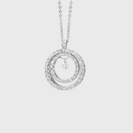 PVG Anhänger Vega Doppelkreis Weissgold mit Diamanten