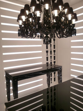 Baccarat Black supper console table, Design Philippe Starck