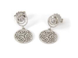 Luca Lorenzini Ohrhänger Infinity Collection Silber mit Zirkonia