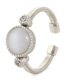 Luca Lorenzini Ring  Scintille Pietra Collection Silber mit Zirkonia